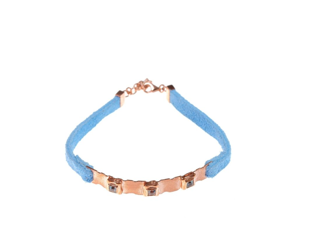 Perfect Square Sequence Plate and Leather Bracelet