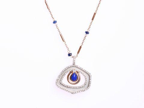 Diamond Essence Gemstone Chain Necklace