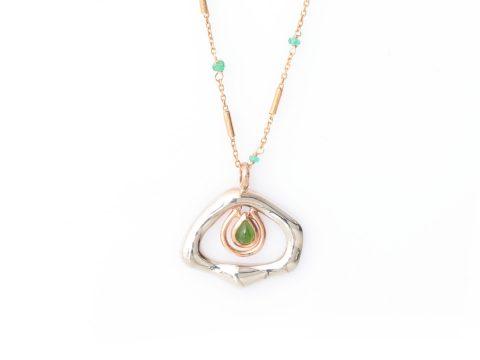 Essence Long Gemstone Chain Necklace