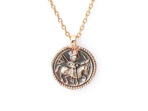 Medium Round Warrior Necklace