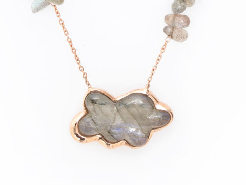 Labradorite Cloud Gemstone Chain Necklace