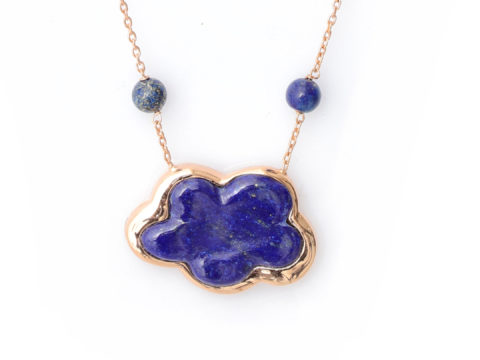 Lapis Lazuli Cloud Gemstone Chain Necklace
