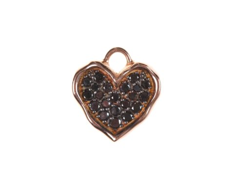 Black Diamond Medium Heart Charm