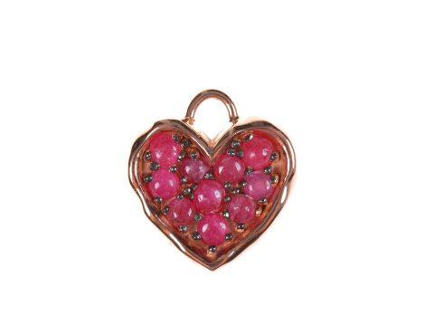 Ruby Medium Heart Charm