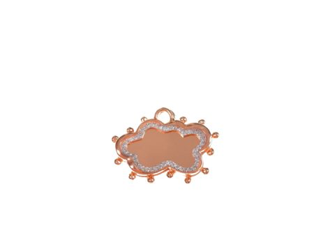 Medium Cloud Diamond Charm and Medium Cloud Plate Charm