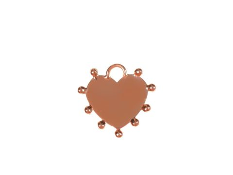 Small Heart Plate Charm