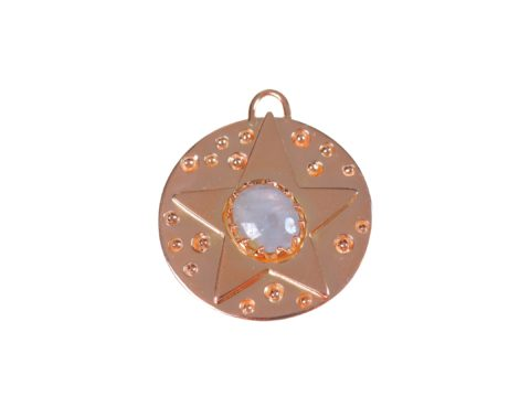 Star on Circle Plate Charm
