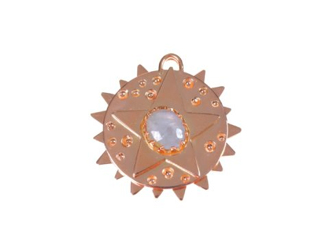 Star on Circle Plate Charm and Angular Plate Charm
