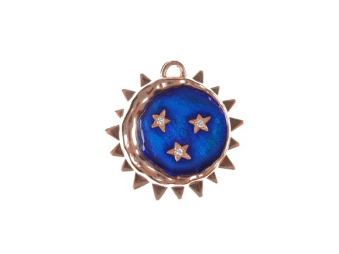 Angular Plate Charm and Moon and Stars Charm