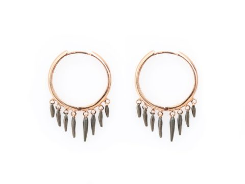Piece of Sunshine Hoop Earrings