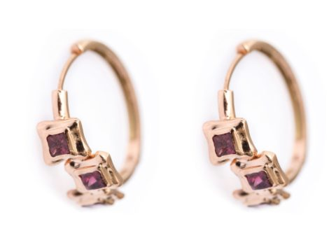 Perfect Square Sequence Hoop Earring