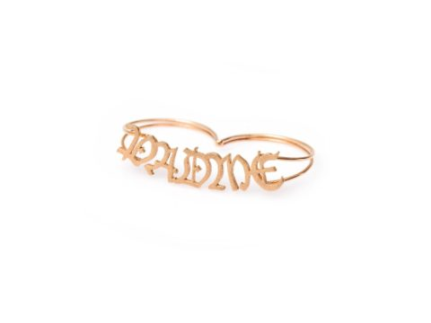 Mantra Padme Double Finger Ring