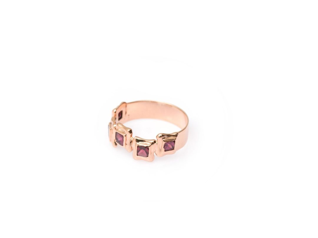 Perfect Square Sequence Plate Ring
