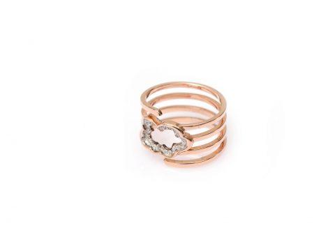 Diamond Cloud Spiral Ring