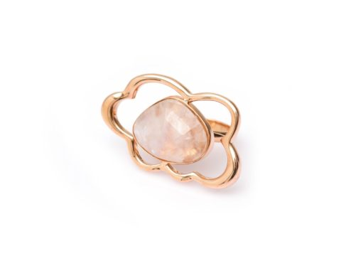 Rainbow Moonstone Cloud Ring