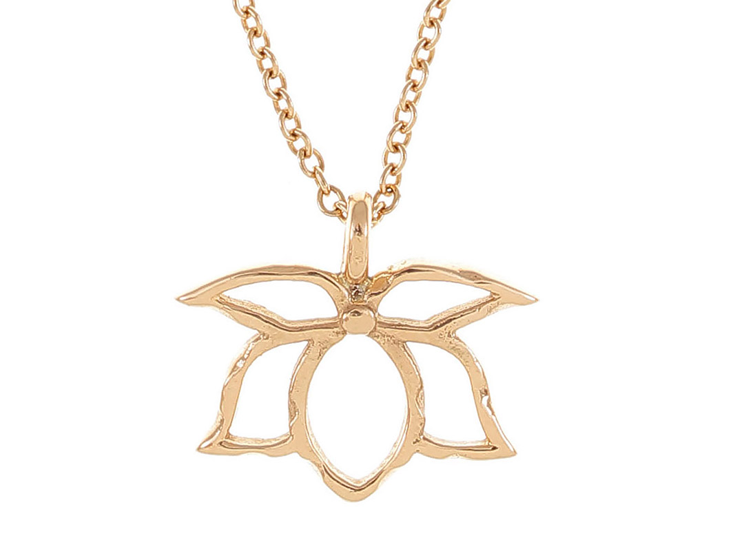 Lotus thin necklace padme designs lotus nce kolye izmirmasajfo