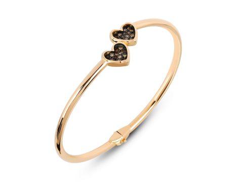 Memory Double Heart Cuff Bracelet