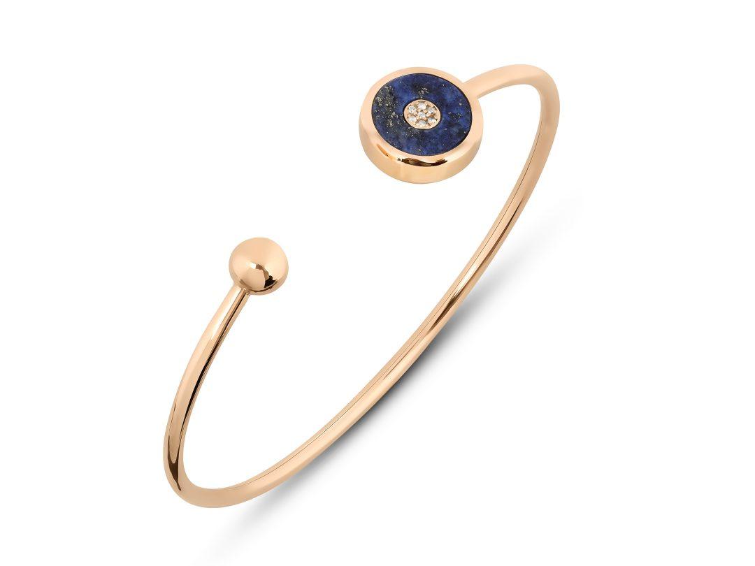 Lapis Lazuli Single Evil Eye Cuff Bracelet
