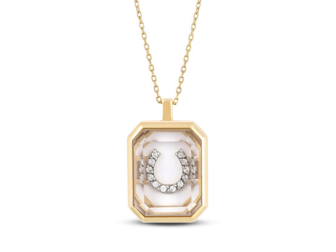 Quartz Small Horseshoe Necklace