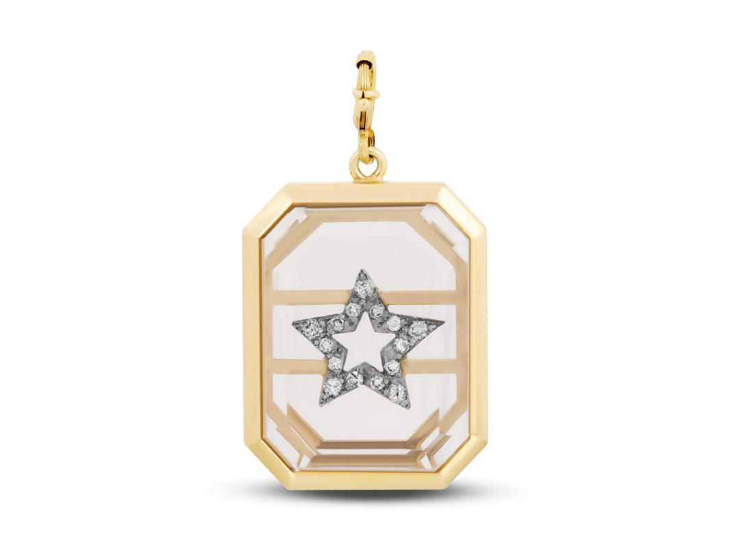 Quartz Large Star Charm
