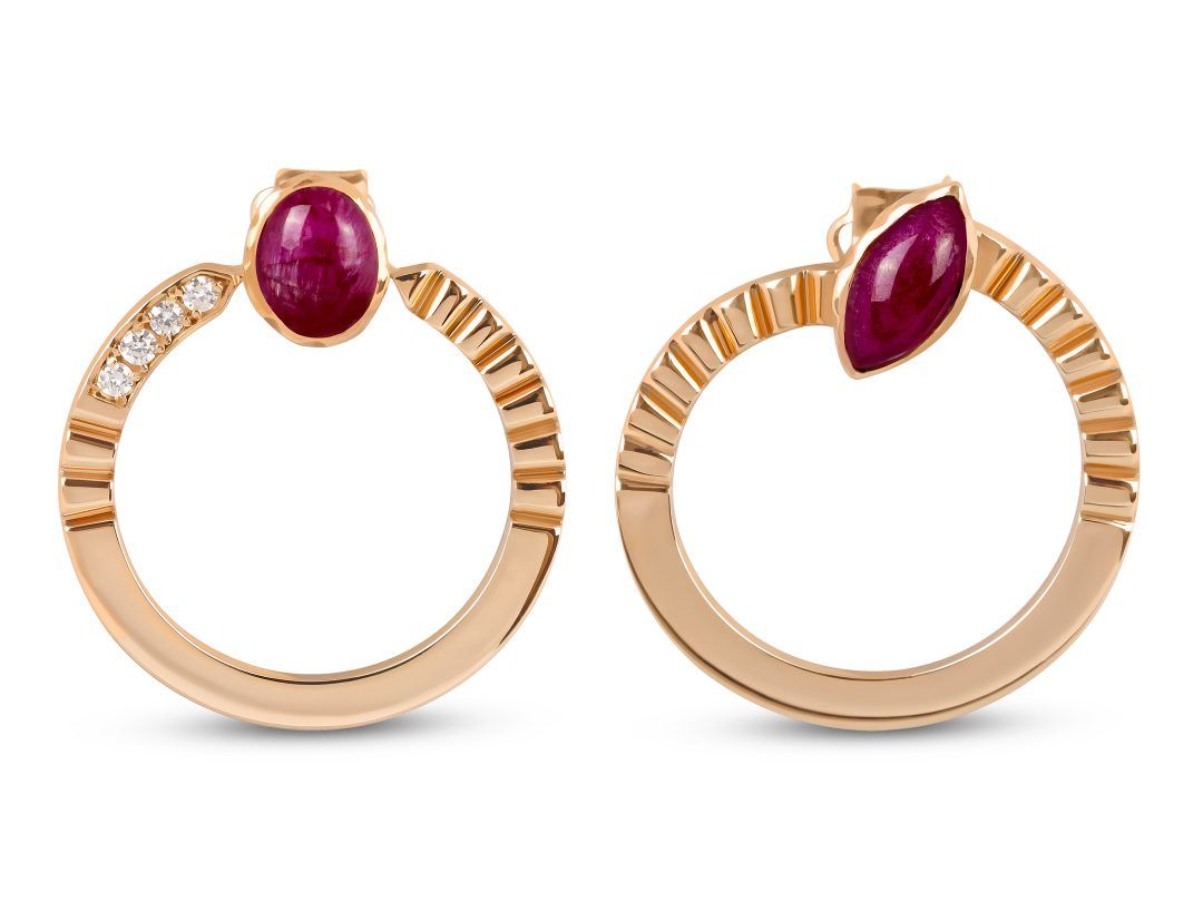Ruby Merdiven Circle Earrings