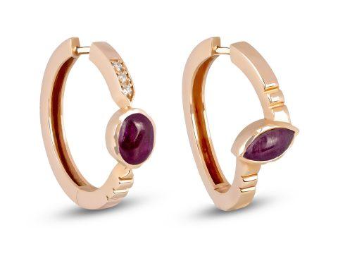 Ruby Merdiven Hoop Earrings