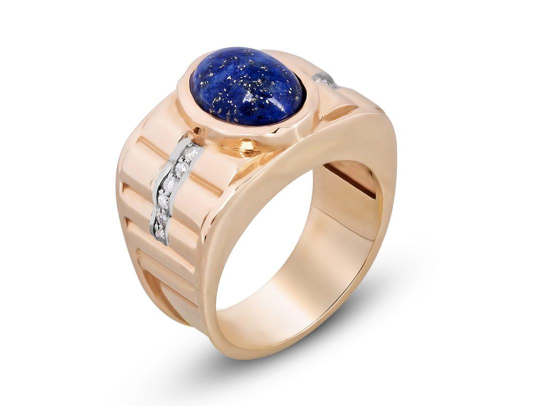 Lapis Lazuli Thick Merdiven Ring