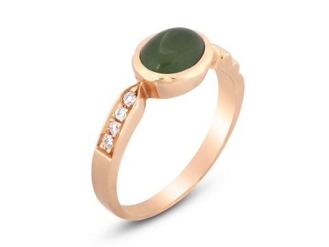 Jade Thin Merdiven Diamond Ring