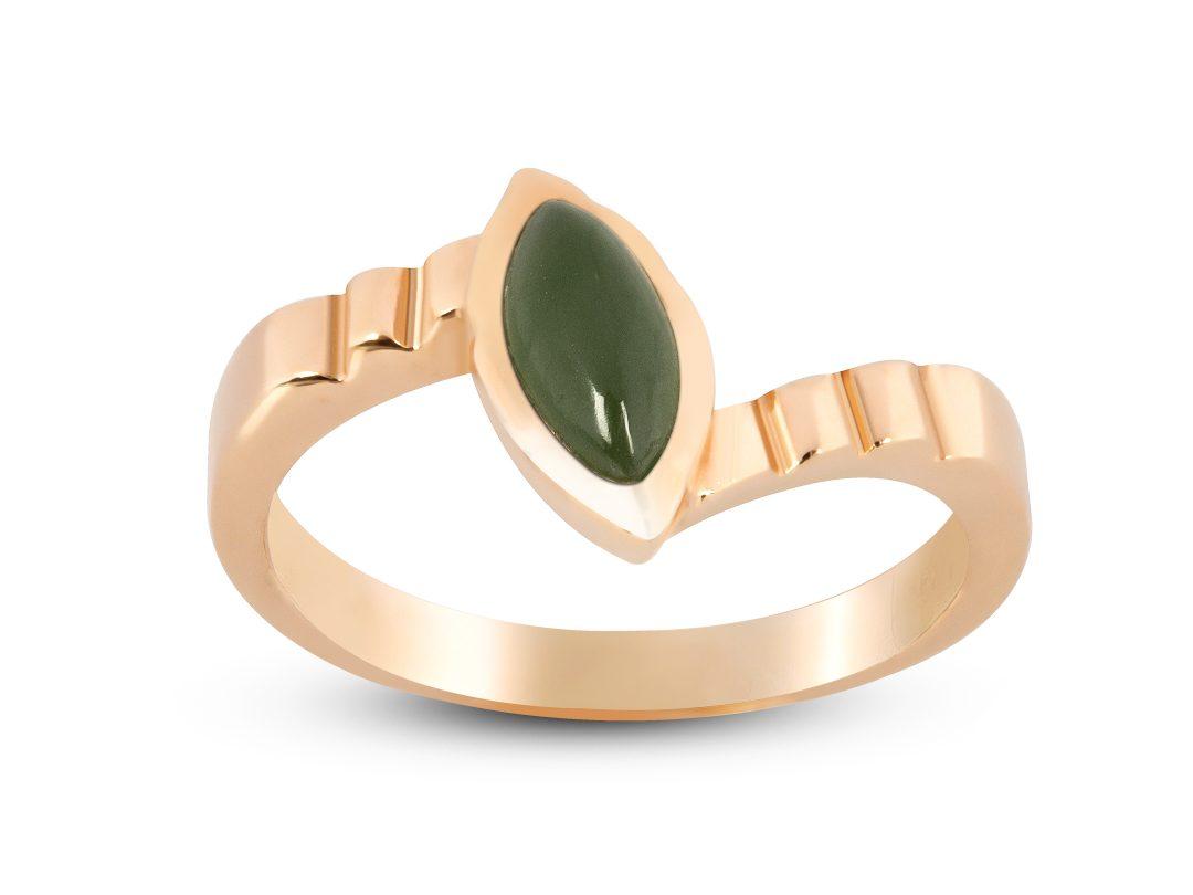 Jade Thin Merdiven Ring