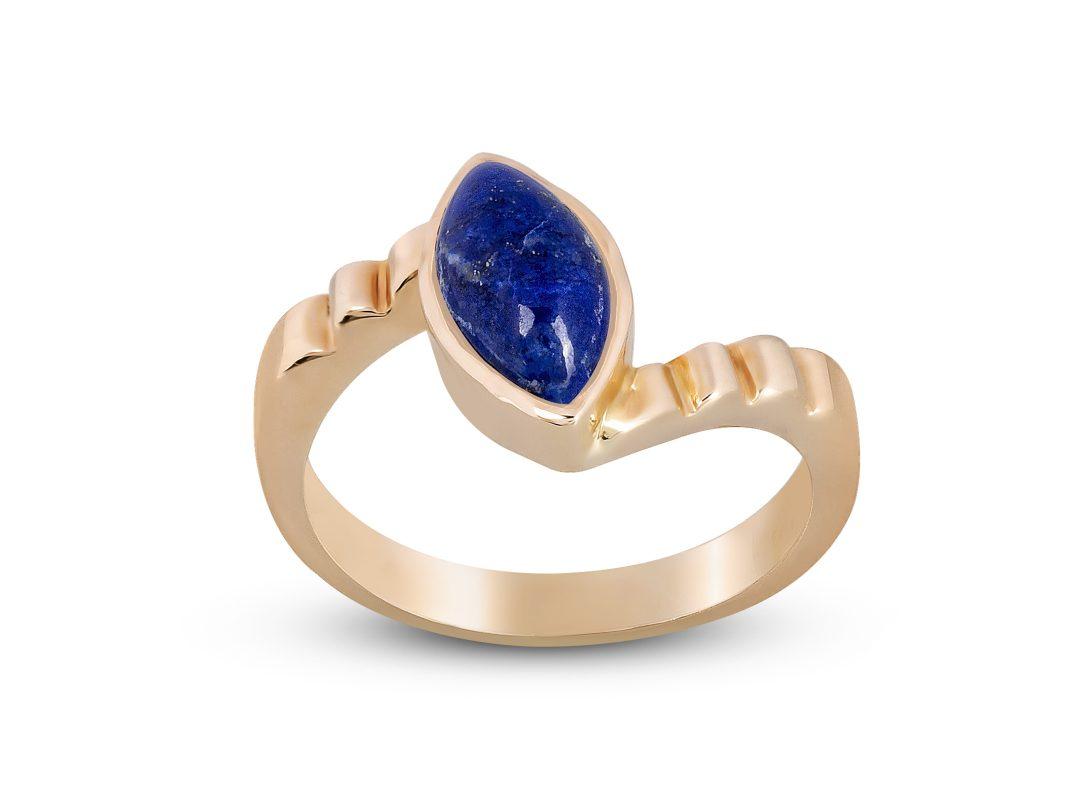 Lapis Lazuli Thin Merdiven Ring