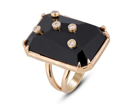Onyx Milestone Rectangle Ring