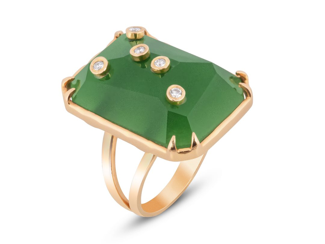 Jade Milestone Rectangle Ring