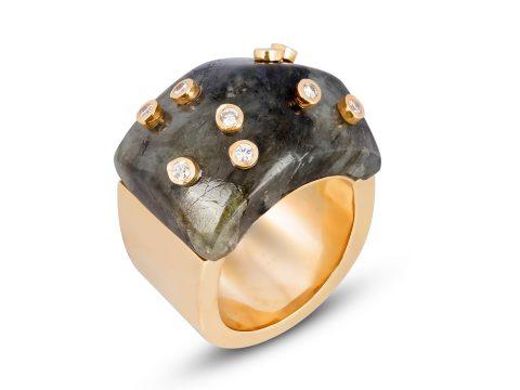 Labradorite Milestone Dome Ring