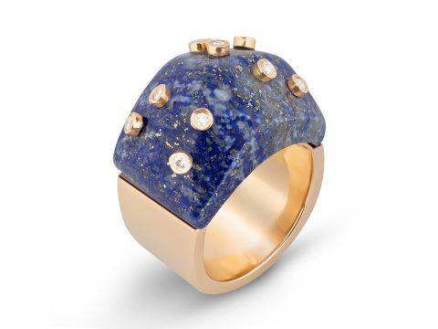 Lapis Lazuli Milestone Dome Ring
